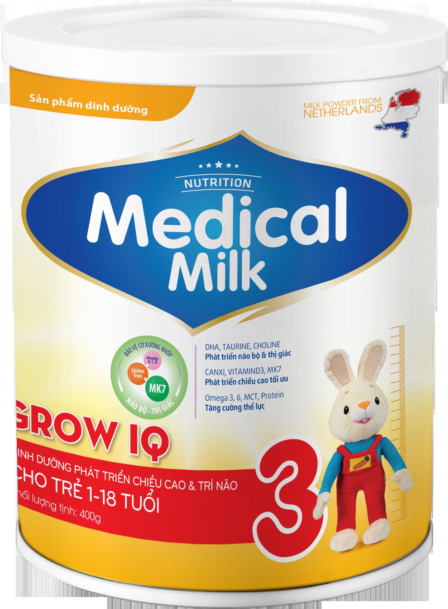 MEDICAL MILK GROW IQ 400g